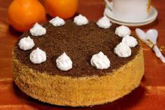 Песочный торт с кремом «Белоснежка» рецепт с фото