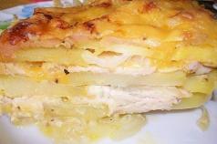 Рецепты картофельных запеканок с куриным филе