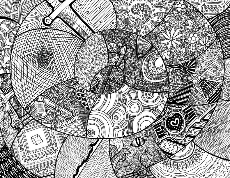 94+ Gambar Abstrak Doodle Kekinian